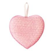 FANCL Heart pink Массажная мочалка для лица в виде сердечка фото
