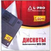 Дискеты форматированные 3.5 дюйма HD 1.44 Мб L-Pro, в картонной коробке 10 шт. фото