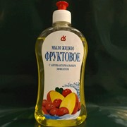 Мыло жидкое фруктовое с антибактериальным эффектом 0.5 л. с дозатором. фото