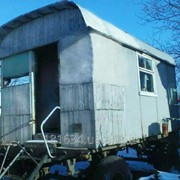 Вагончик-жилье для работников, на колесах фото