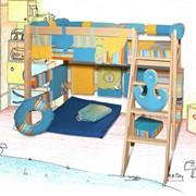 Кровать чердак с игровым домиком для детей фото