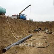 Прокладка водопроводной трубы фото
