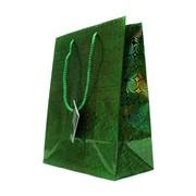 """Пакет подарочный ламинированный """"Зеленые спирали"""", 18х10х23см (MILAND) фото"""