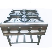 Плита производственная 4-х конфорочная без духовки фото