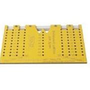 Шаблон для разметки отверстий под мебельные ручки-кнопки и ручки-скобы (96,128,160,192мм ), МШ-22 фото
