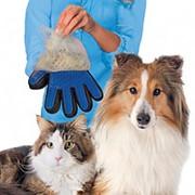 Перчатка для вычесывания шерсти домашних животных True Touch фото