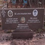 Надгробная плита из гранита фото
