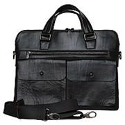 Кожаный мужской портфель из натуральной кожи фото