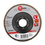 Диск шлифовальный лепестковый 115*22мм, зерно K60 Intertool BT-0106 фото