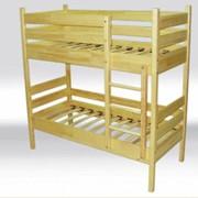 Ліжко дерев'яне 2х рівневе фото