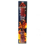 Шампуры 6шт 45х1 см с деревянной ручкой в блистере фото