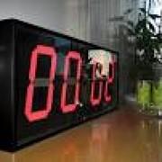 Электронными часы с термометром, Часы для ледовых катков, часы для ледовых арен фото