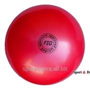 Мяч FIG красный, 18 см, 400 г фото