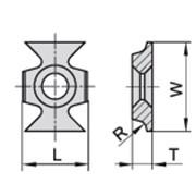 Ножи для снятия радиусной фаски 16×22×5,0 R-3,0 ммCeratizit 11921638 фото