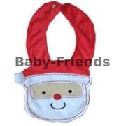 Слюнявчик на кнопке Санта фото
