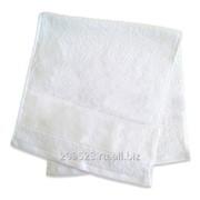 Полотенце 30х70см махровое белое (бордюр под нанесение 7см) фото