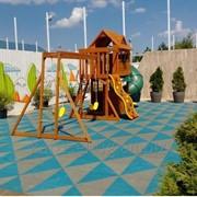 Резиновая тротуарная плитка для детских площадок фото