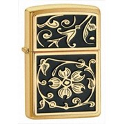 Зажигалка Zippo «Gold Floral Flush Emblem» фото