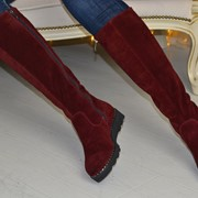 Женские кожаные или замшевые сапоги еврозима. ВВ-25-1118 фото