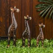 """Набор сувениров """"Довольные жирафы"""", 3 шт фото"""