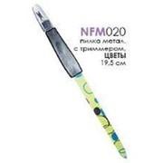 Пилочка 020192 NFM 020 Merilin металл. с триммером Цветы для маникюра в PVC sm_19.5 ( 1 шт.) фото