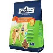 Сухой корм для собак средних и больших пород 3 кг - Клуб 4 палы фото
