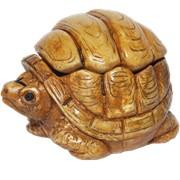 Черепаха-шкатулка. Сувениры из керамики фото