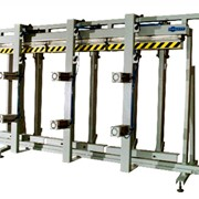 Пресс горизонтальный гидравлический с автоматической загрузкой и выгрузкой для склеивания многослойного бруса ПГ 001 фото