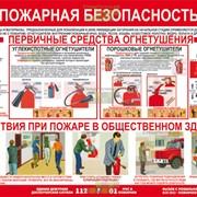 Изготовление информационных стендов по пожарной безопасности фото
