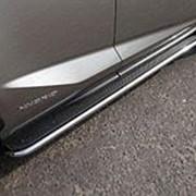 Пороги Lexus NX 300/300h/200/200t 2014-наст.время (с площадкой нерж. сталь 42,4 мм) фото