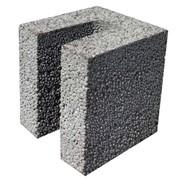 Блок лотковый керамзитобетонный (перемычечный) фото