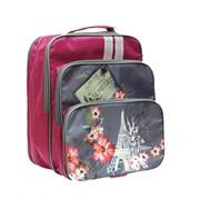 Рюкзак ученический Мальвина, разм. 32х27х15 см, жест. спинка, (LURIS) фото