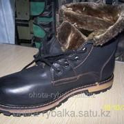 Ботинки зимние из кожи фото