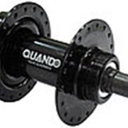 Втулка сталь задняя 36отв. д/дисковых тормозов под 7 скоростную трещетку, с эксцентриком черная QUANDO фото