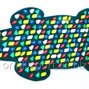"""Массажный коврик """"Крокодил"""" с цветными камнями 150 х 50 см фото"""