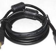 Аудио видео кабель HDMI-HDMI, GOLD 1,5 м фото