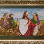 Вышитая работа Иисус с апостолами в поле БС Солес Новинка фото