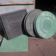 Люк канализационный квадратный 1,5т. фото