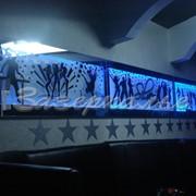 Панно декорированное в синих тонах фото