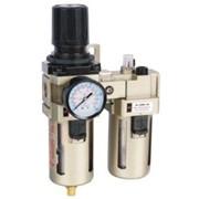 Блок подготовки воздуха. Фильтр-Регулятор - Маслораспылитель. Резьба - G1/4 , Тип AC-3010-02 фото