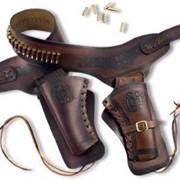Кожаный патронташ - Охотник фото