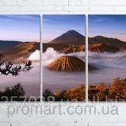 Модульна картина на полотні Вулкан Бромо. Індонезія код КМ80120-104 фото