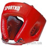 Шлем боксёрский арт. ОД1 красный фото