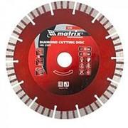 Matrix Диск алмазный, отрезной Турбо-сегментный, 180 х 22,2 мм, сухая резка Matrix Professional фото