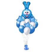 """Облако из воздушных шаров """"Крош"""" Ф-010 фото"""