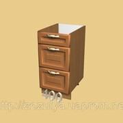 Кухни МДФ рамочный нижний 400 мм ящики 3 шт фото