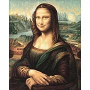 Раскраска по номерам.Репродукция Мона Лиза Леонардо да Винчи фото