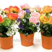 """Композиция из искусственных цветов """"Роза с космеей"""" БФ70017 фото"""