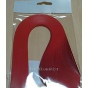 Бумага для квиллинга красного цвета, размер 5 х297мм 107011 фото