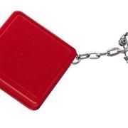 Брелок Square с рулеткой 1 м, красный фото